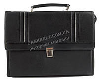 Стильный деловой мужской портфель с качественной PU кожи CANTLOR art. 376-01 черный