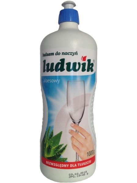 Жидкость для мытья посуды Ludwik алое, 1 л (Польша)