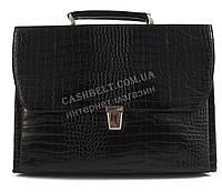 Стильный деловой мужской портфель с качественной PU кожи под рептилию CANTLOR art. 374-14 черный