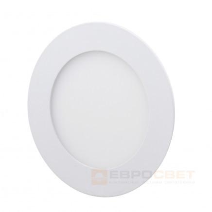 Светильник точечный Евросвет LED-R-90-3 3W 6400К встраиваемый