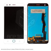Дисплей для мобильного телефона ZTE Blade S6 Plus, белый, с сенсорным экраном
