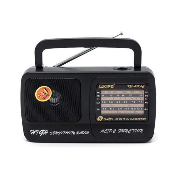 Радіоприймач KIPO KB-409(408)AC ХІТ ПРОДАЖУ !!!