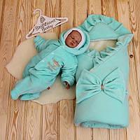 Зимний набор на выписку из роддома Мария+Brilliant Baby (ментол)