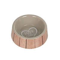 Миска Karlie-Flamingo Shabby Chic Bowl Heart для собак керамика, 400 мл
