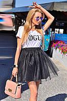 Фатиновая юбка пышная черная. Тренд сезона!