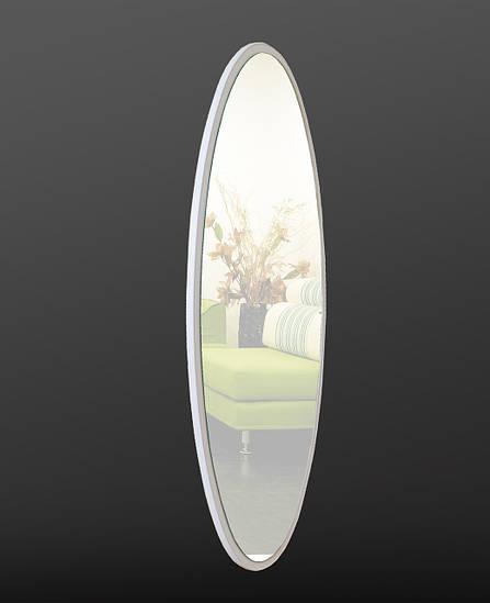 Зеркало ростовое, овальное, белое 1300х550