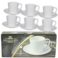 Набор чайный 12 пр. (чашка 280мл, блюдце 16 см) SNT FD-2603-K