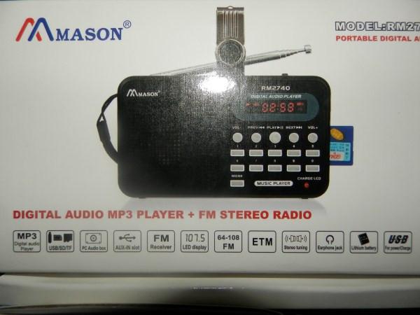Радиоприемник MASON R- 2740 с USB+SD+АКБ