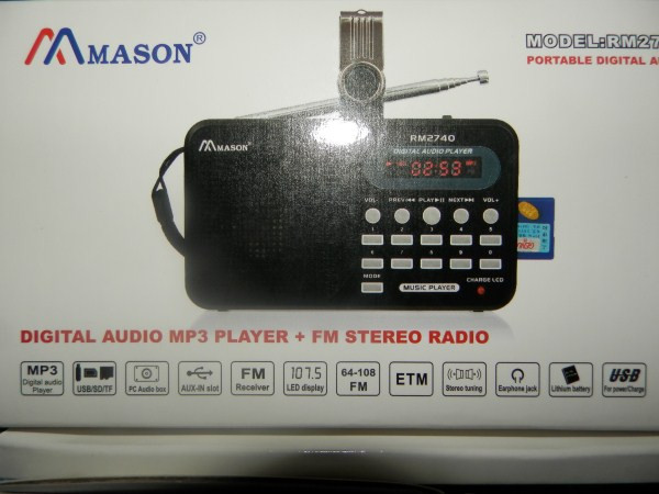 Радіоприймач MASON R - 2740 з USB+SD+АКБ