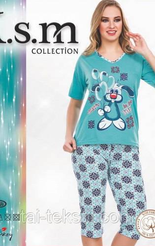 Пижама футболка с бриджами KSM № 5028, фото 2