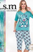 Пижама футболка с бриджами KSM № 5028