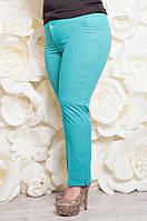 Летние батальные бирюзовые брюки Тиар ТМ Ирмана 50-58 размеры