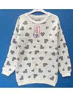 Модный лохматый свитер для девочки 128-164