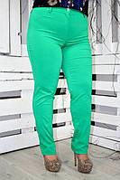 Зеленые брюки большого размера ИРМАНА ТМ Ирмана 50-56 размеры