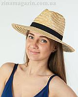 Соломенная шляпа ковбойка