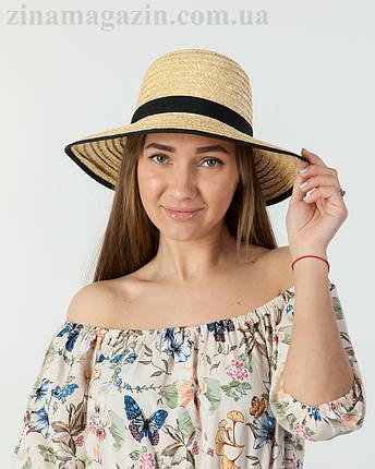 Широкополая соломенная шляпа, фото 2