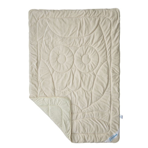 Одеяло полуторное летнее махровое SoundSleep 140х205 Cute бежевое 150 г/м2