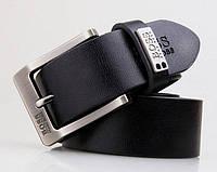 Мужской кожаный ремень Boss (201) black