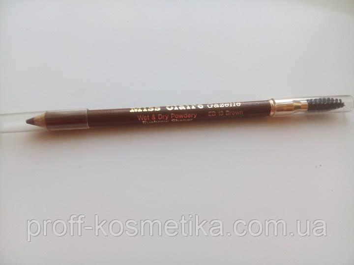 Карандаш для бровей Miss Claire EB13 (brown) со щеточкой - . в Бердичеве