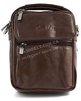 Качественная прочная мужская сумка почтальонка с качественной PU кожи CANTLOR art. 1322-163 коричневый, фото 1