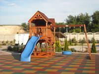 Противоскользящая плитка из резиновой крошки для Детских площадок, фото 1