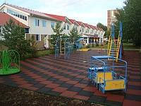Плитка тротуарная резиновая для пола детских площадок