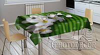 """3D-Фото скатерть """"Бамбук и цветы"""""""