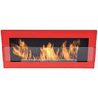 Биокамин  Nice-House  900x400 мм-красный глянец со стеклои, фото 1
