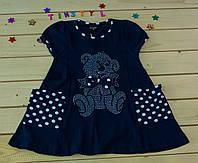 Летнее платье Мишуля  для девочки 2-5 лет
