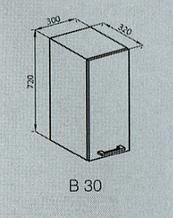 Кухонный модуль Марта верхний В 30 Лак