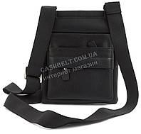 Стильная небольшая мужская сумка почтальонка с качественной PU кожи CANTLOR art. 2013-2 черный