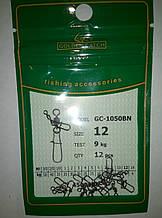 Карабин Американка Golden Catch с вертлюжком №12