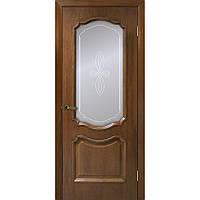 """Двери межкомнатные натуральный шпон """"Кармен СС+КР (орех) ТМ Омис (Украина)"""