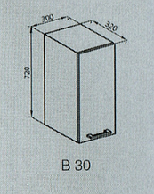 Кухонный модуль Алина верхний В 30 Лак