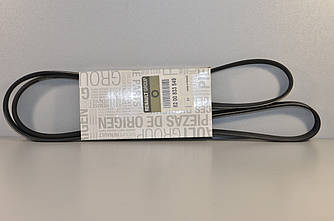 Поликлиновый (ручейковый) ремень 6PK1795 на Renault Trafic 2001-> 1.9dci (+AC)—Renault (Оригинал) - 8200833549