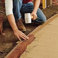 Установка бордюров и защита тротуарной плитки