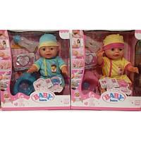 Кукла пупс функциональная Baby Born 2 вида  YL 1712I