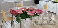 "3D-Фото скатерть ""Букет роз"""