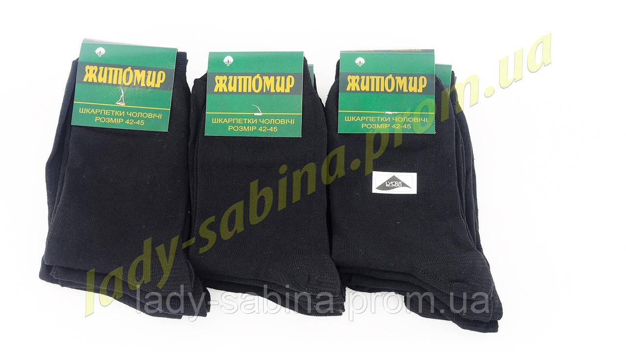 Носки мужские стрейч Житомир размер (42-45) черные (арт.НМ0017Х/360)