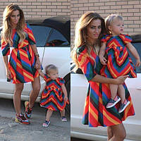 Платье ВАЛЕНТИНО-ткань габардин мама + дочка