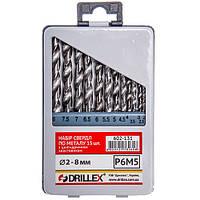 Набор сверл по металлу Р6М5 13шт.  2.0-8.0мм СНГ НСВ1308 (Украина)