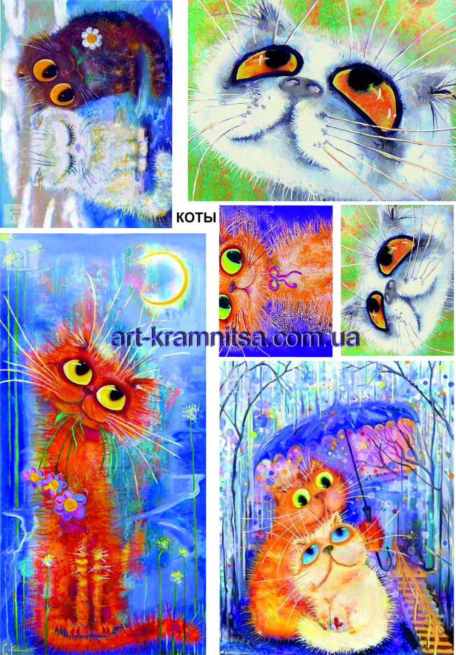 Лазерная декупажная карта Коты