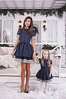 Платье детское -ткань мемори и кружево