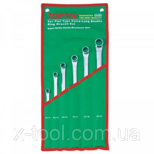 Набор накидных ключей 8-19мм (угол 75°)  6ед. Toptul GAAA0604 (Тайвань)