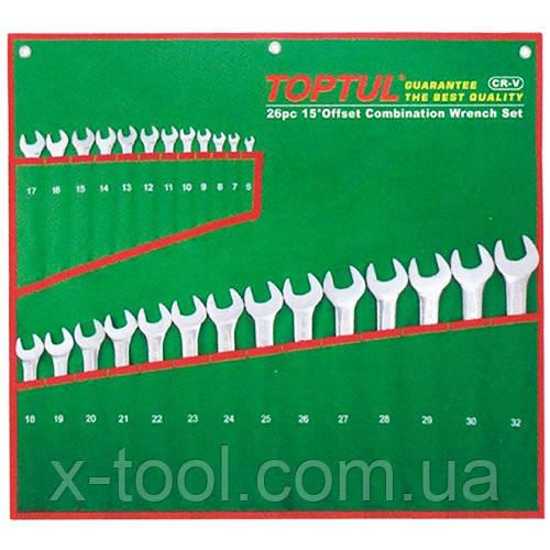 Набор ключей комбинированных 26 шт. 6-32 (полированных) Toptul GAAA2603 (Тайвань)
