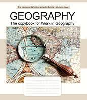 Тетрадь ученическая ЗУ Предметка-География-16 (Elegance) 48 листов клетка