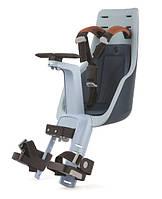 Велокресло переднее Exclusive mini на рулевую раму - Bobike- Нидерланды - от 9 месяцев до 3 лет джинсовый люкс