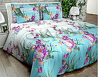 """Комплект постельного белья """"Цветы"""" двуспальный евро"""