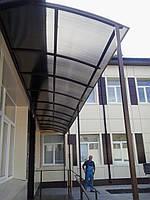 Навесы и козырьки из поликарбоната Харьков