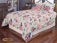 """Комплект постельного белья """"Сны на английском"""" двуспальный"""